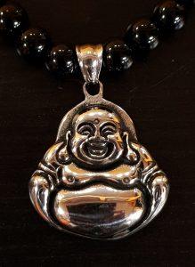 lachende Buddha zilver 1