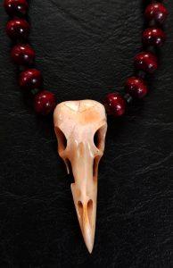 vogel skull middel rood 2 detail